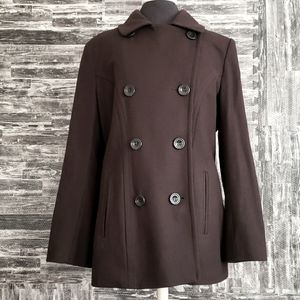 Anne Klein Brown Double breasted Size large coat